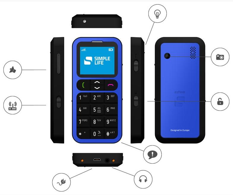 myphone one blue funkce
