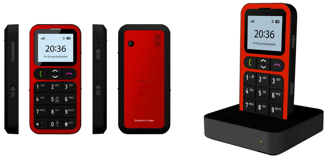 myphone one red komplet